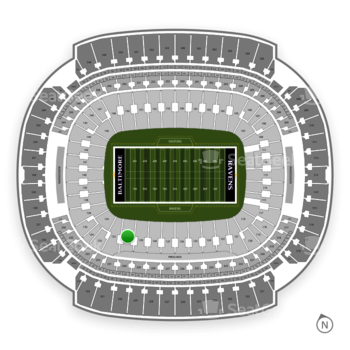 Baltimore Ravens at M&T Bank Stadium Section 130 View