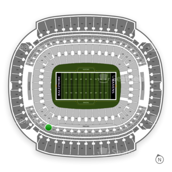 Baltimore Ravens at M&T Bank Stadium Section 232 View
