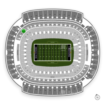 Baltimore Ravens at M&T Bank Stadium Section 246 View