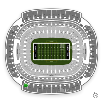 Baltimore Ravens at M&T Bank Stadium Section 532 View