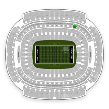Baltimore Ravens at M&T Bank Stadium Section 204 View