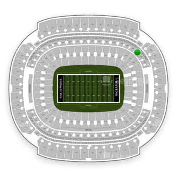 Baltimore Ravens at M&T Bank Stadium Section 207 View