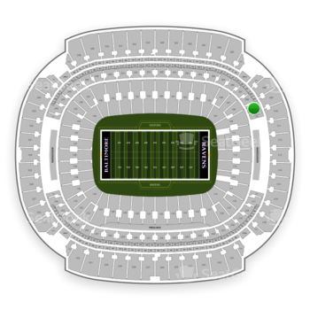 Baltimore Ravens at M&T Bank Stadium Section 209 View