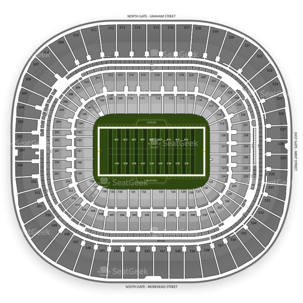 bank of america stadium seating chart interactive seat map bank of america stadium seating chart interactive seat map seatgeek