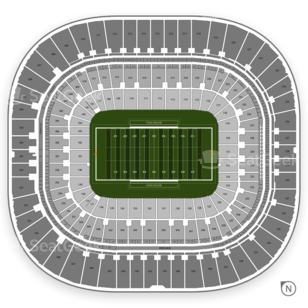 Bank of America Stadium Seating Chart NCAA Football