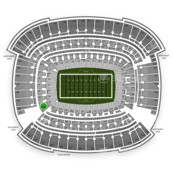 Cleveland Browns at FirstEnergy Stadium Section 101 View