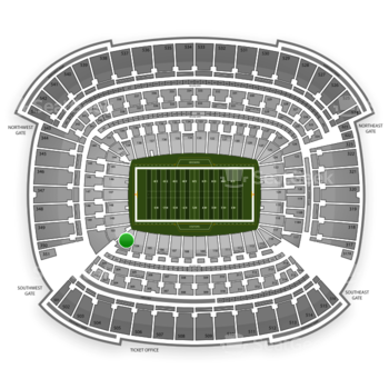 Cleveland Browns at FirstEnergy Stadium Section 102 View