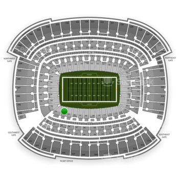 Cleveland Browns at FirstEnergy Stadium Section 104 View