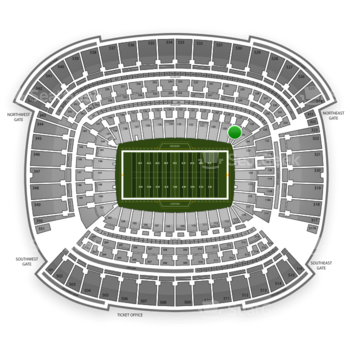 Cleveland Browns at FirstEnergy Stadium Section 127 View