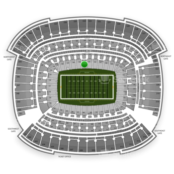 Cleveland Browns at FirstEnergy Stadium Section 134 View
