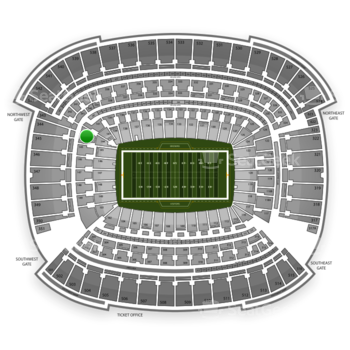Cleveland Browns at FirstEnergy Stadium Section 144 View