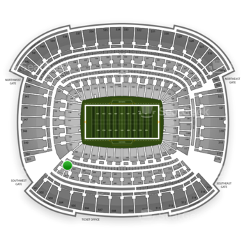 Cleveland Browns at FirstEnergy Stadium Section 303 View