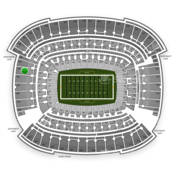 Cleveland Browns at FirstEnergy Stadium Section 345 View