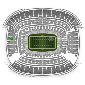 Cleveland Browns at FirstEnergy Stadium Section 346 View