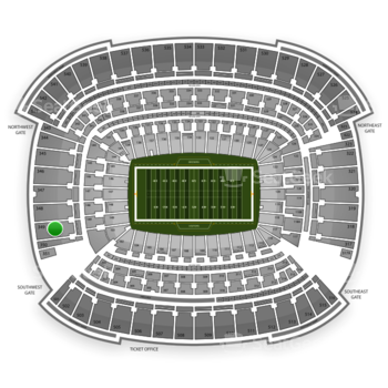 Cleveland Browns at FirstEnergy Stadium Section 349 View