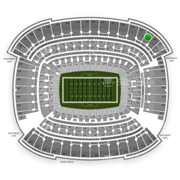Cleveland Browns at FirstEnergy Stadium Section 527 View