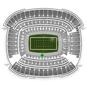 Cleveland Browns at FirstEnergy Stadium Section 108 View