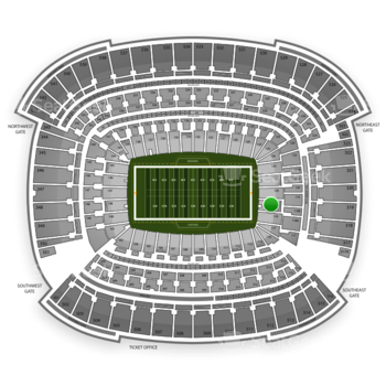 Cleveland Browns at FirstEnergy Stadium Section 119 View
