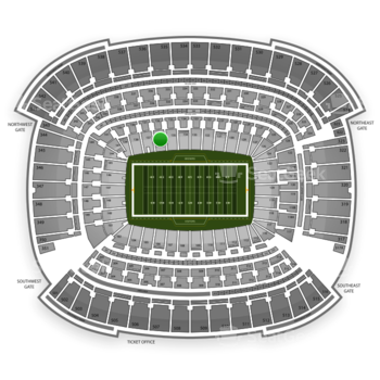 Cleveland Browns at FirstEnergy Stadium Section 136 View
