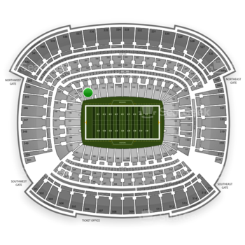 Cleveland Browns at FirstEnergy Stadium Section 138 View