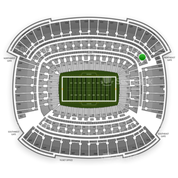 Cleveland Browns at FirstEnergy Stadium Section 325 View