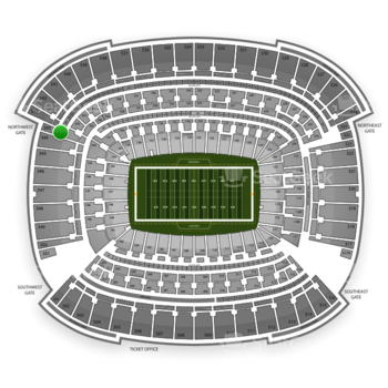 Cleveland Browns at FirstEnergy Stadium Section 343 View
