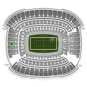 Cleveland Browns at FirstEnergy Stadium Section 347 View