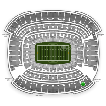 Cleveland Browns at FirstEnergy Stadium Section 514 View