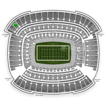 Cleveland Browns at FirstEnergy Stadium Section 541 View