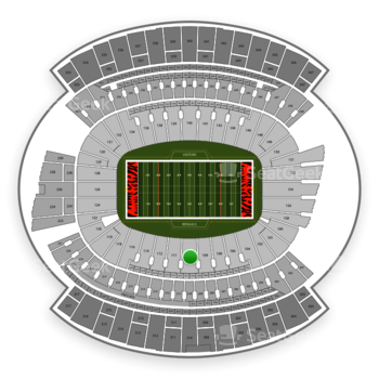 Cincinnati Bengals at Paul Brown Stadium Section 110 View