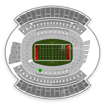 Cincinnati Bengals at Paul Brown Stadium Section 114 View