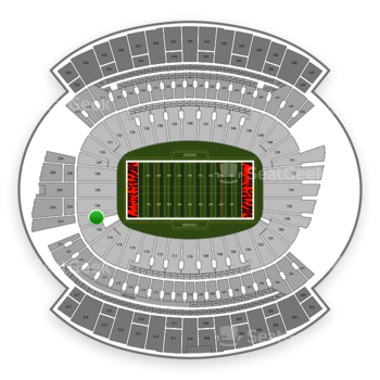 Cincinnati Bengals at Paul Brown Stadium Section 122 View