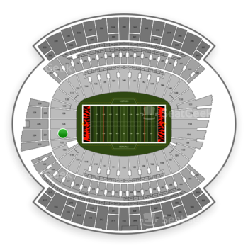 Cincinnati Bengals at Paul Brown Stadium Section 124 View