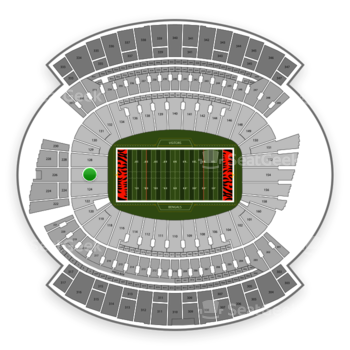 Cincinnati Bengals at Paul Brown Stadium Section 126 View