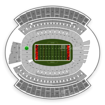 Cincinnati Bengals at Paul Brown Stadium Section 128 View