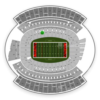 Cincinnati Bengals at Paul Brown Stadium Section 138 View