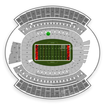 Cincinnati Bengals at Paul Brown Stadium Section 139 View