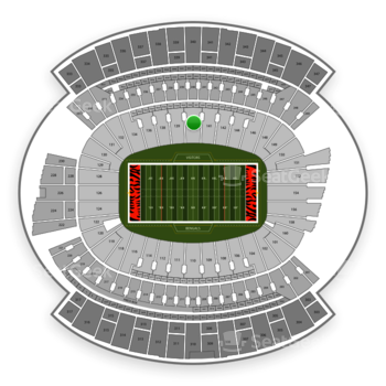 Cincinnati Bengals at Paul Brown Stadium Section 140 View