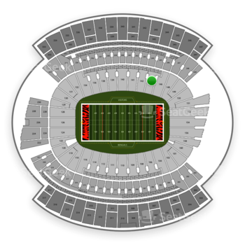 Cincinnati Bengals at Paul Brown Stadium Section 144 View