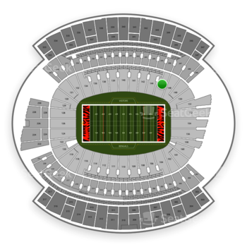Cincinnati Bengals at Paul Brown Stadium Section 146 View