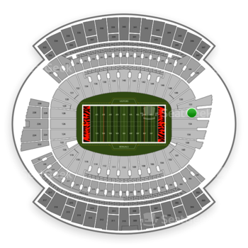 Cincinnati Bengals at Paul Brown Stadium Section 152 View