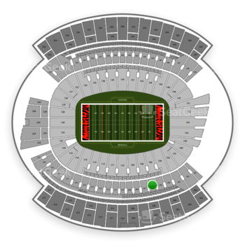 Cincinnati Bengals at Paul Brown Stadium Section 206 View