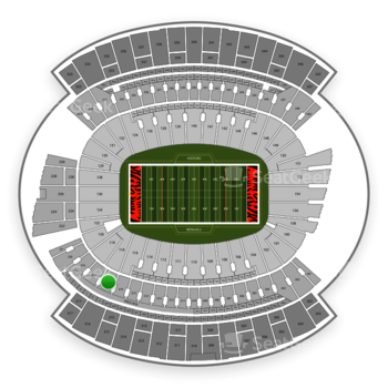 Cincinnati Bengals at Paul Brown Stadium Section 217 View