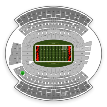 Cincinnati Bengals at Paul Brown Stadium Section 219 View