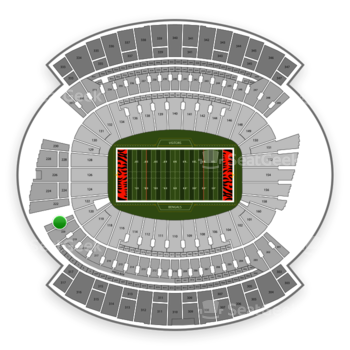 Cincinnati Bengals at Paul Brown Stadium Section 221 View