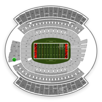 Cincinnati Bengals at Paul Brown Stadium Section 222 View