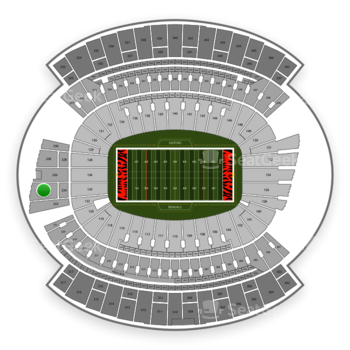 Cincinnati Bengals at Paul Brown Stadium Section 224 View