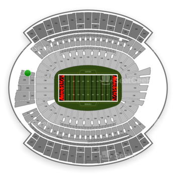Cincinnati Bengals at Paul Brown Stadium Section 230 View