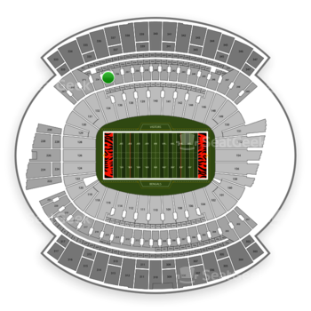 Cincinnati Bengals at Paul Brown Stadium Section 235 View