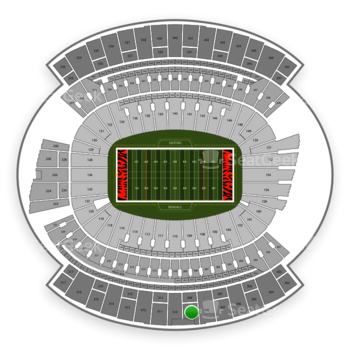 Cincinnati Bengals at Paul Brown Stadium Section 309 View